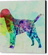 Labrador Retriever Watercolor Canvas Print by Naxart Studio