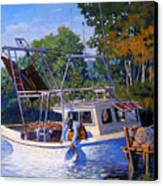 Lafitte Skiff Canvas Print by Kevin Lawrence Leveque