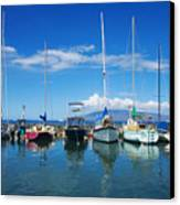 Lahaina In Blue Canvas Print by Ron Dahlquist - Printscapes