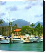 Lahina Harbor Canvas Print