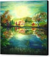 Lake At Dawn Canvas Print