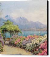 Lake Como From The Villa Carlotta Canvas Print
