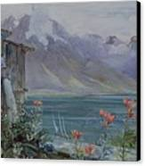 Lake Geneva Canvas Print by John William Inchbold