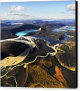 Lake In An Old Volcanic Crater Or Canvas Print