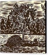 Lake Leek Canvas Print by Al Goldfarb