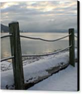 Lake Snow Canvas Print