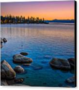 Lake Tahoe State Park Fall Sunset Canvas Print by Scott McGuire