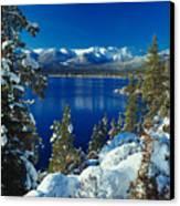 Lake Tahoe Winter Canvas Print by Vance Fox