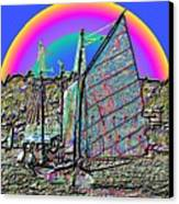 Lake Union Rainbow Sail Canvas Print