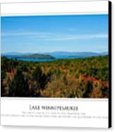 Lake Winnipesaukee - Fall Canvas Print by Jim McDonald Photography