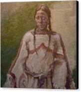 Lakota Woman Canvas Print by Ellen Dreibelbis