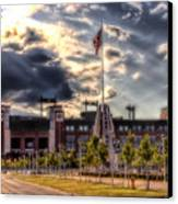 Lambeau Field Awakes Canvas Print by Joel Witmeyer