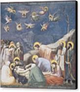 Lamentation Canvas Print by Giotto Di Bondone