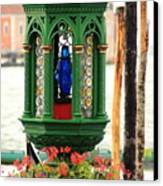 Lamp At Gondola Station In Venice Canvas Print