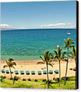 Lanai And Molokai Canvas Print by Jim Chamberlain