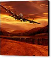 Lancaster Over Ouzelden Canvas Print by Nigel Hatton