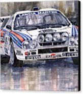 Lancia 037 Martini Rally 1983 Canvas Print by Yuriy  Shevchuk