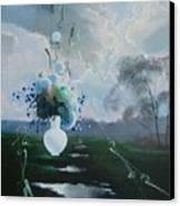 Landscape Whith Bouquet Canvas Print