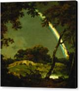 Landscape With A Rainbow Canvas Print by Joseph Wright of Derby