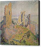 Landscape With A Ruined Castle  Canvas Print by Paul Signac