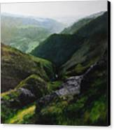 Landscape With Aspect Towards The North Wales Coast. Canvas Print by Harry Robertson