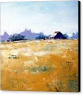 Landscape With Barn Canvas Print