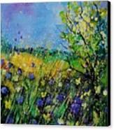 Landscape With Cornflowers 459060 Canvas Print