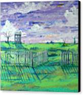Landscape With Fence Canvas Print