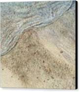 Lapping.  Gentle Wavelet Caressing The Shore. Canvas Print