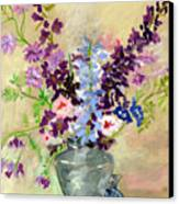 Larkspur Canvas Print by Ethel Vrana