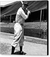 Larry Doby, Circa 1947 Canvas Print by Everett
