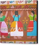 Las Comadres Canvas Print by Sonia Flores Ruiz