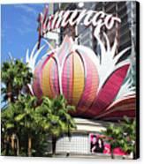 Las Vegas Flamingo Hotel Lotus Blossom Canvas Print by Linda Phelps