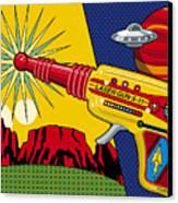 Laser Gun Canvas Print by Ron Magnes