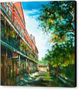 Late Afternoon On The Square Canvas Print by Dianne Parks
