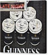 Late Night Guinness Limerick Ireland Canvas Print