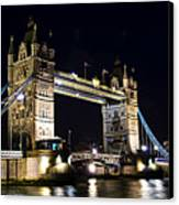 Late Night Tower Bridge Canvas Print by Elena Elisseeva