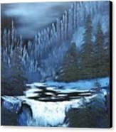 Late Night Waterfall Canvas Print