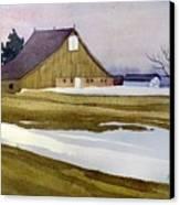 Late Winter Melt Canvas Print