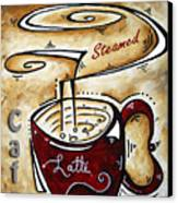 Latte By Madart Canvas Print by Megan Duncanson