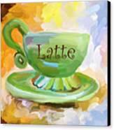 Latte Coffee Cup Canvas Print by Jai Johnson