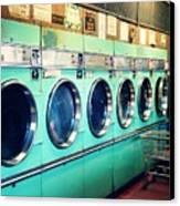 Laundromat Canvas Print by Vivienne Gucwa