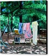 Laundry Day 1800 Canvas Print by Stan Hamilton
