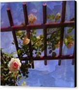 Laura's Rose Trellis 2 Canvas Print by Jen White