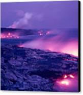Lava Flows To The Sea Canvas Print