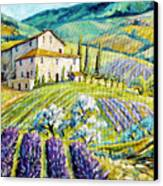 Lavender Hills Tuscany By Prankearts Fine Arts Canvas Print