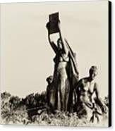 Law Prosperity And Power In Black And White Canvas Print by Bill Cannon