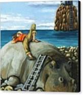 Lazy Days - Surreal Fantasy Canvas Print by Linda Apple