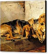 Lazy Moments Canvas Print by John Sargent Noble