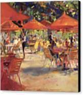 Le Cafe Du Jardin  Canvas Print